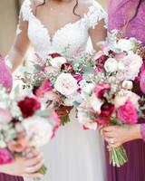 ryan thomas wedding bouquets fuchsia and white