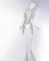 persy wedding dress sketch