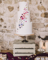 Pressed Floral Wedding Cake