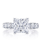 princess cut ring tacori multiple diamonds