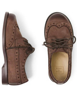 ring bearer shoes brown leather wingtip shoes with laces