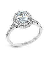 Simon G. Oval Engagement Ring