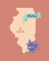 state wedding costs illustration illinois