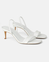 white animal print leather sandals
