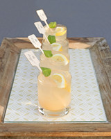drinks with personalized swizzle sticks