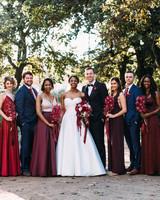 yolana douglas wedding party bride groom bridesmaids groomsmen