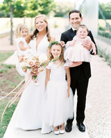 amanda chuck wedding couple with kids