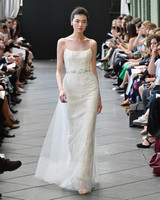 amsale wedding dress spring 2019 tulle overlay spaghetti strap