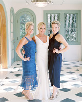 blue guest dresses bride