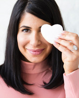bride with heart cookie
