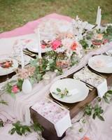 outdoor picnic spread