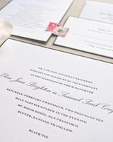 black tie wedding invitation