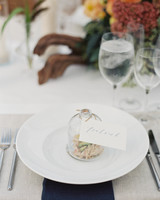 cloche food wedding reception