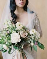 emme daji wedding bride with bouquet