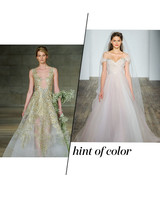 Fall 2018 Wedding Dress Trends, Hint of COlor