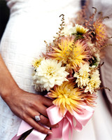 Yellow and Mauve Wedding Bouquet