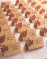 8 diy ideas for adding an autumnal touch to your fall wedding fall diy veneer seating cards 0914g junglespirit Images