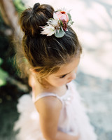 Flower Girl Hairstyle High Sock Bun