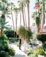 hanna will wedding first look in palm trees