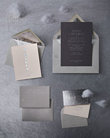 Silver Lunar Wedding Stationery