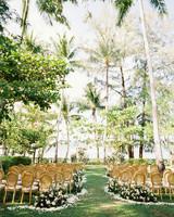 Rosewood Phuket grass lawn wedding ceremony