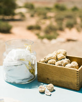 jeanette david wedding desert geodes in box by jar of paper