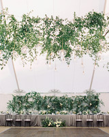 katie mike wedding head table