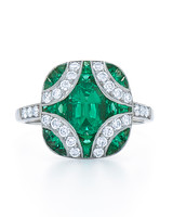 Kwiat Emerald Engagement Ring