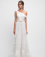 lihi hod wedding dress lace one shoulder off the shoulder a-line