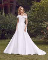 Marchesa one shoulder a-line wedding dress fall 2019