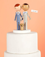 me and him custom cake topper