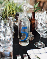 bottle wedding table number