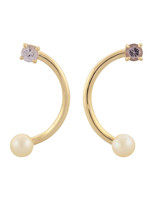 pearl wedding earrings mociun