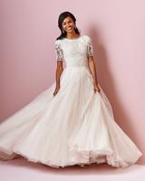 Rebecca Ingram wedding dress spring 2019 ball gown high neckline lace