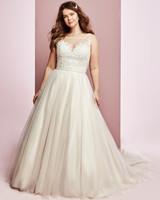 Rebecca Ingram wedding dress spring 2019 a-line illusion sheer neckline tulle