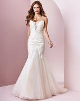 Rebecca Ingram wedding dress spring 2019 trumpet v-neck illusion sheer neckline
