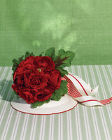 Red Ranunculus and Geranium Wedding Bouquet
