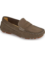 ring bearer shoes brown suede moccasins
