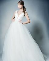 romona wedding dress spring 2019 v-neck a-line tulle skirt