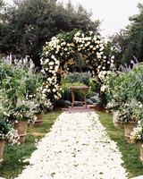 Ceremony Aisle with White Petals