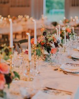 sofi ben camp wedding reception table setting