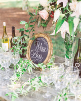 Custom Wine Bar for Wedding