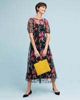 "Eva Franco ""Lucy"" Embroidered Midi Dress"