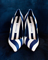 blue striped slip on wedding shoes