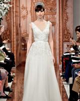 theia wedding dress spring 2019 v-neck belted a-line