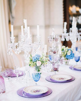 wedding plates candelabra