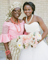 anwuli patrick wedding bride with mom