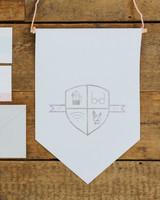 banner decor crest hanging sign