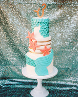 Mermaid-Inspired Wedding Cake