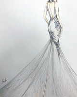 berta spring 2020 wedding dress sketch